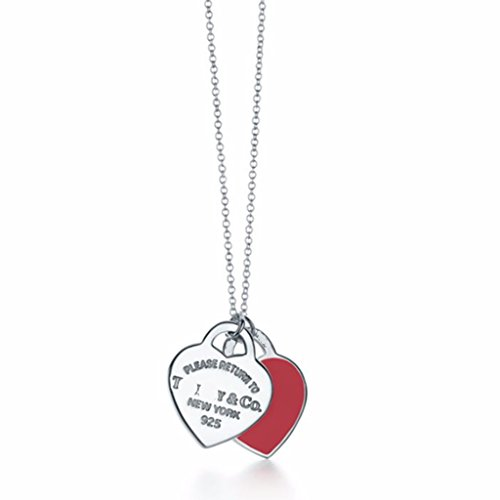 Return to Heart Red Double Heart Necklace for - Tiffany To Return