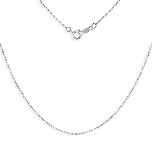 "Chaîne en or blanc 14 carats-Collier avec Pendentif Enfant - 15 ""- JewelryWeb"