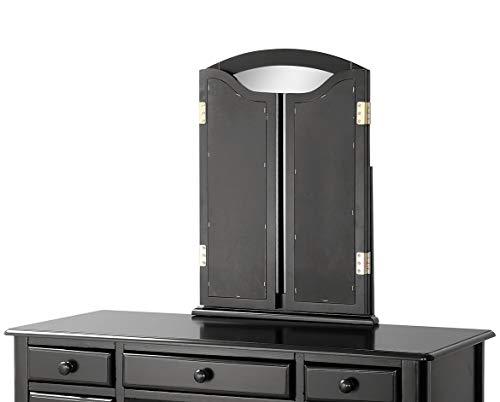 Merax. Ella Vanity Set w/Stool Makeup Vanity Dressing Table, Bedroom Vanity (Black) - bedroomdesign.us