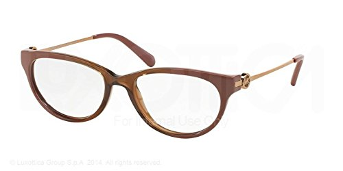 Michael Kors Courmayeur Eyeglasses MK8003 3008 Brown/Rio Coral Ombre 53 17 - Cat Eye Michael Kors Eyeglasses