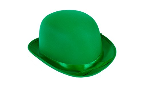 Dress Up Party Costume BOWLER Hat (Green)]()