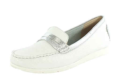 115 Deer Multi 28 Womens 9 White Leather 24651 Moccasin Skin 9 xw6qzO06v