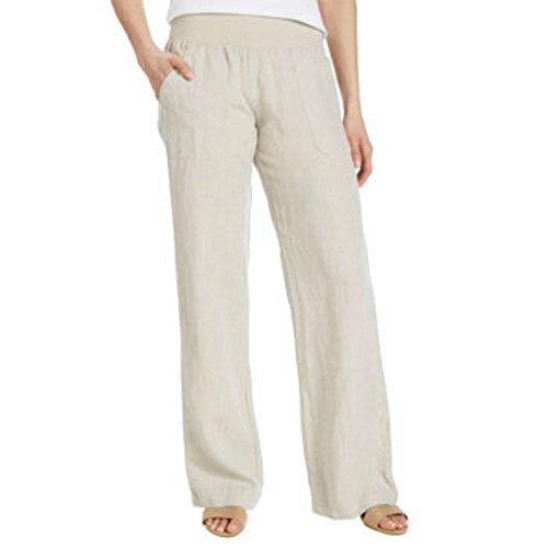 Washed Linen / Cotton Pants - 6