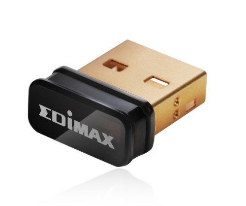 Edimax EW-7811Un 150Mbps 11n Wi-Fi USB Adapter, Nano Size Lets You Plug it and Forget it, Ideal for Raspberry Pi / Pi2, Supports Windows, Mac OS, Linux (Black/Gold) (Wlan Adapter)