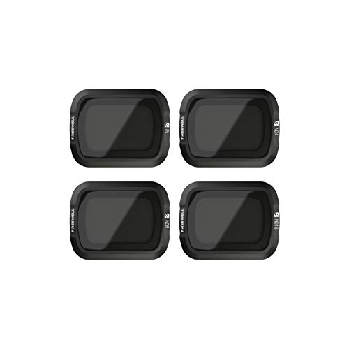 Freewell Standard Day – 4K Series – 4Pack ND4, ND8, ND16, PL Camera Lens Filters Compatible with DJI Osmo Pocket