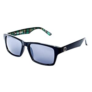 Zoo York Mens Retro Rectangle Plaid Sunglasses One Size Black plaid