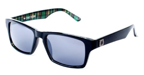 Zoo York Retro Rectangle Plaid Mens Sunglasses One Size Black - Zoo Eyewear York