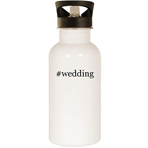 #wedding - Stainless Steel Hashtag 20oz Road Ready Water Bottle, White