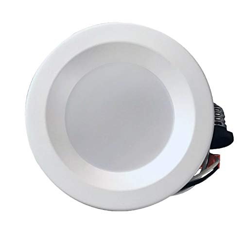4'' Dimmable LED Downlight Smooth Trim, 540 Lumens, 4000K Cool White, Recessed Retrofit Lighting Trim, 9W (60W Replacement), Energy Star UL Listed,Title 24 JA8-2016 Compliant, 1 Pack by EZ In Touch With Tomorrow