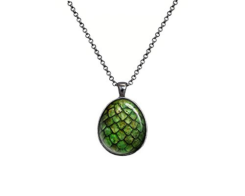 Green Dragon Egg Necklace, Game of Thrones Jewelry, - Dragon Egg Pendant Necklace