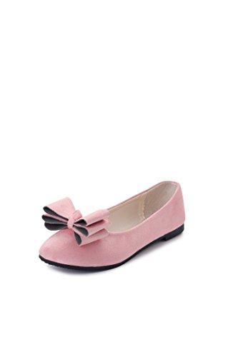 Scarpe Tie Donna Punta Pink bocche di Piatto Plastica Piacere Poco Bow LEIT Sottile Profondo 6RTIqw6Y