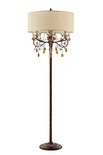 - OK Lighting AZOK5157F Magnolia Floor Lamps, Brown