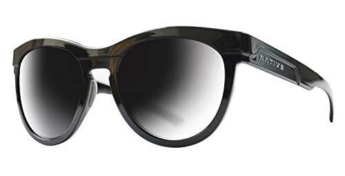 Native Eyewear 195 300 523 La Reina Sunglasses, Gloss Black Framebronze/Gray Lens