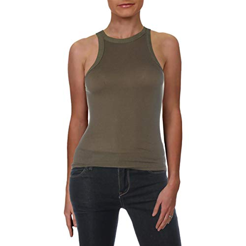 Free People Women's Wide Eyed Tank Top Army Small
