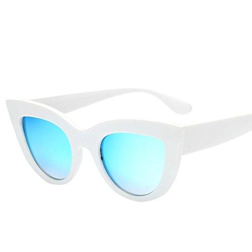 Gafas Gafas de Gafas Aviador Gafas Sol de Mujeres Vintage Moda Sol de day de Happy Mujer Gafas Fiesta de A Ojo Gato Retro gc15t0W