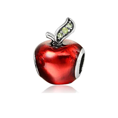 New Original Sliver Plated Bead Fairytale Dumbo Love Charm Fit Pandora Bracelet Necklace Women Jewelry Snow White Apple