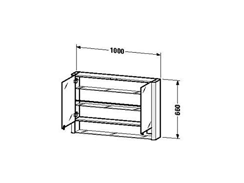 Duravit SPS 'Licht & Spiegel' 186x100x660mm 2 Spiegeltüren, 2 Relinge, Glasboden, LM970203737