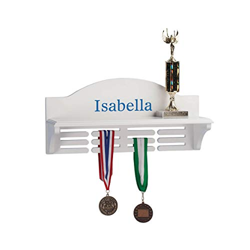 Miles Kimball Personalized Medal and Trophy Holder, Blue Font