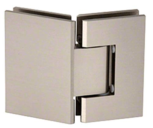 CRL Junior Geneva 545 Series Brushed Nickel 135176; Glass-to-Glass Hinge With 5 Degree Pin Preset