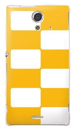 8d5fc5901c au Xperia UL SOL22 ケース/カバー (Checkers yel... : XPERIA UL SOL22 ...