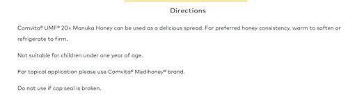 Comvita Certified UMF 20+ (MGO 829+) Manuka Honey I New Zealand's #1 Manuka Brand I Raw, Non-GMO, Halal, Kosher I Ultra Premium Grade, 8.8 Oz by Comvita (Image #7)