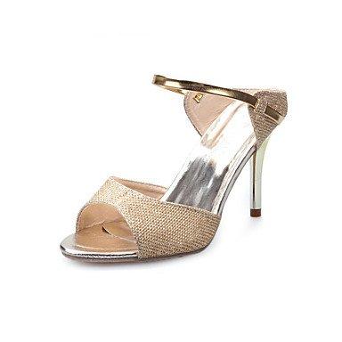 LvYuan Tacón Stiletto-Confort-Sandalias-Vestido Informal-PU-Blanco Plata Oro White