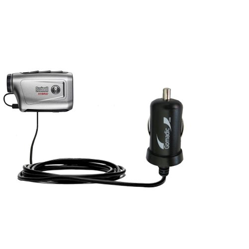 Gomadic Intelligent Compact Car / Auto DC Charger suitable for the Bushnell Hybrid Laser GPS - 2A / 10W power at half the size. Uses Gomadic TipExchange Technology