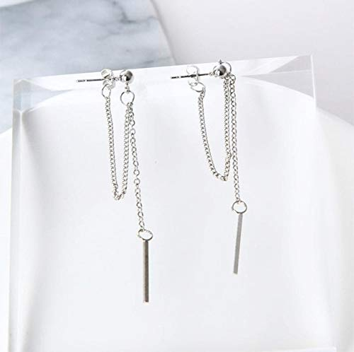 Harva Silver Ladies Tassel Chain Long Paragraph Ms. Earrings Wholesale Sales Online Shopping India Punk 2017 Fashion New Earrings - (Metal Color: Photo Color) (Sale Online Shopping India)