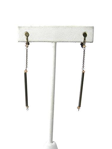 isabel-marant-peach-brass-nevermind-bar-drop-screw-clip-on-earrings