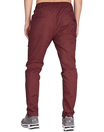 Casual Bourgogne Pantalon Homme Morn Cargo Fit Chino Slim Italy BxR6SqvA