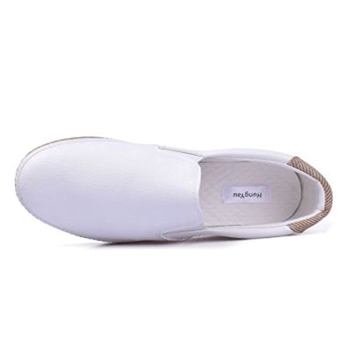 Breathable White Loafers Slip On Womens Sneakers Comfortable Shoes Flat Casual Walking qARXvX