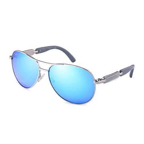Classic Aviator Sunglasses For Women Men Metal Frame Mirrored Lens 8 Colors Driving Fashion Sunglasses 16884 ()