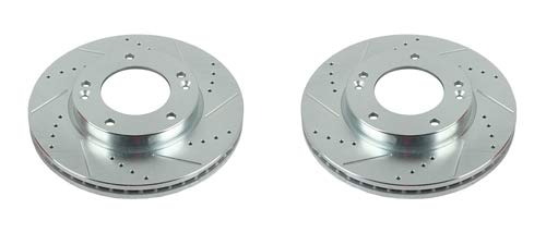 Power Stop JBR1518XPR Front Evolution Performance Drilled, Slotted & Plated Brake Rotor Pair