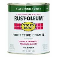 Rust-Oleum 7738502 Protective Enamel Paint Stops Rust, 32-Ounce, Gloss Hunter Green
