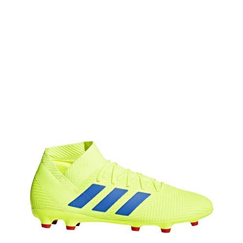 adidas Men's Nemeziz 18.3 Firm Ground, Solar Yellow/Football Blue/Active red, 8 M US