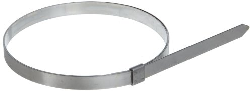 BAND-IT JS2569 Junior 1/4'' Wide x 0.020'' Thick, 2-3/4'' Diameter, 201 Stainless Steel Smooth I.D. Clamp (100 Per Box) by Band-It
