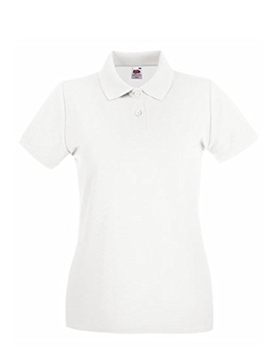 Fruit of the Loom - Lady-Fit Premium Polo - White - 2XL (18) XXL / 18,White