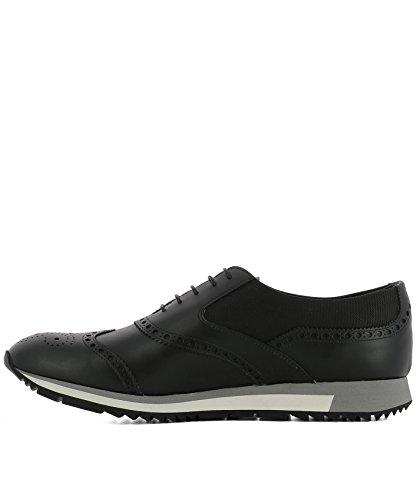 Prada Homme 2EE2653H8ZF0002 Noir Cuir Chaussures À Lacets