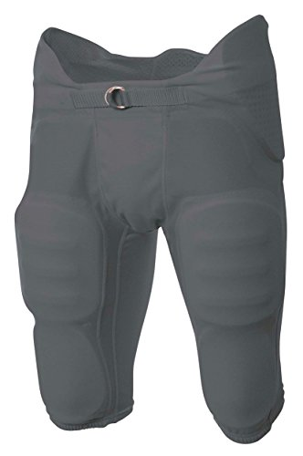(A4 Boy's Flyless Integrated Football Pant Graphite)