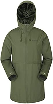 Mountain Warehouse Hilltop Womens Waterproof Jacket - Taped Seams, Lightweight - For Cycling