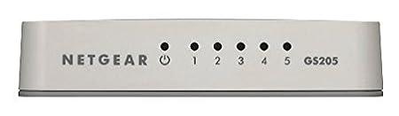 NETGEAR GS305-100UKS 5-Port Gigabit Metal Ethernet Desktop//Wallmount Switch,Grey