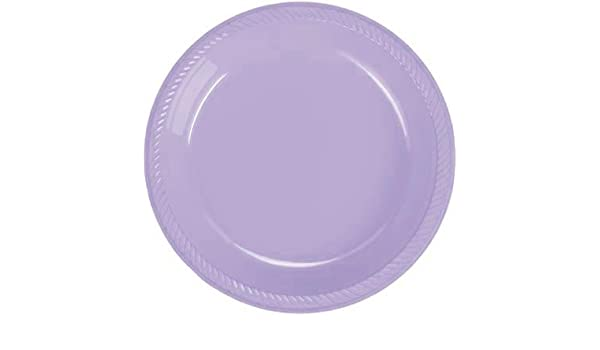 Creative Converting Dinner Plates 24 Count 10-1//4 Inch Diameter light blue