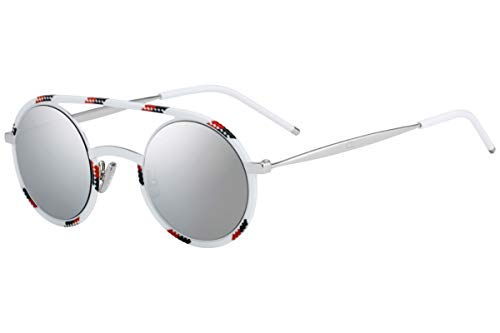 Christian Dior Homme DiorSynthesis01 Sunglasses White Redpo w/Grey Silver Mirror Lens 43mm T2G0T Dior Synthesis01 Dior Synthesis 01 Dior Synthesis01/S DiorSynthesis01/S