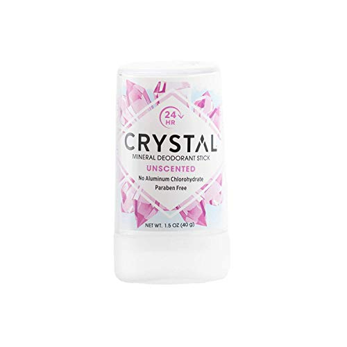 Crystal Body Deodorant Travel Stick, Unscented 1.5 oz ( pack of 4)