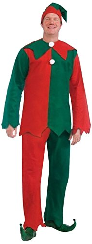 [Forum Novelties Men's Toy Shop Elf, Green/Red, One Size] (Green And Red Elf Costumes)