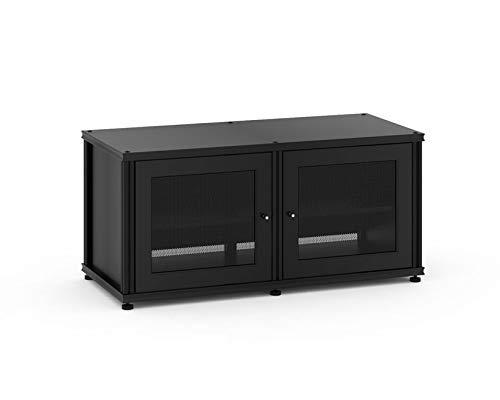 Shelved A/v Cabinet - Salamander Synergy 221 Two-Shelved A/V Cabinet (Black/Black)