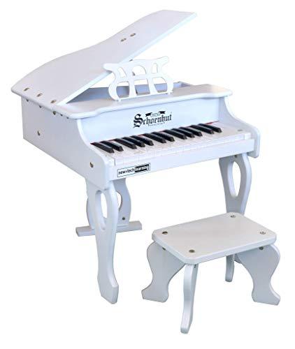 Schoenhut 3017W 30 Key Digital Baby Grand White Piano by Schoenhut (Image #1)
