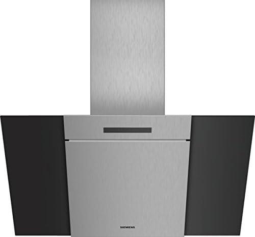 Siemens iQ300 LC87KBM60 De pared Negro 670m³/h A - Campana (670 m³/h, Canalizado/Recirculación, A, A, D, 58 dB): Amazon.es: Hogar