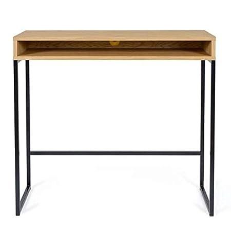 Paris Prix - Escritorio Design Frame 100 cm Roble & Negro: Amazon ...