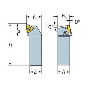 Sandvik Coromant 266RFG-2525-22 CoroThread 266 Shank Tool for Thread Turning, 5.906'' Overall Length, 1.26'' Function Width by Sandvik Coromant